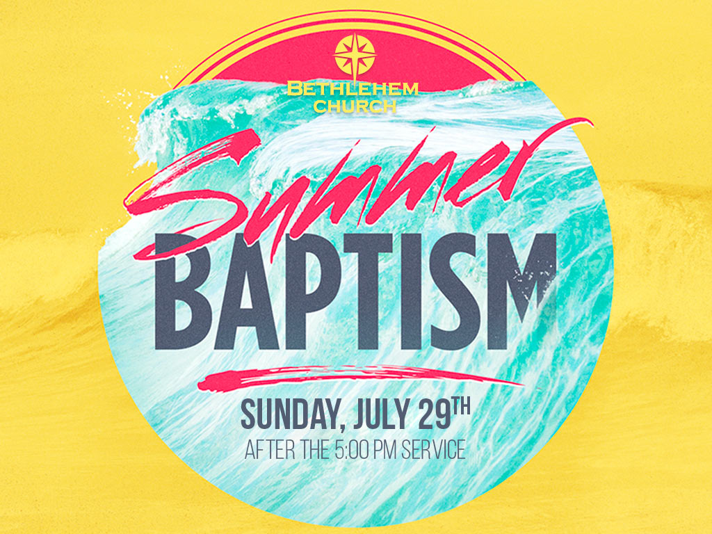 Summer baptism registrations