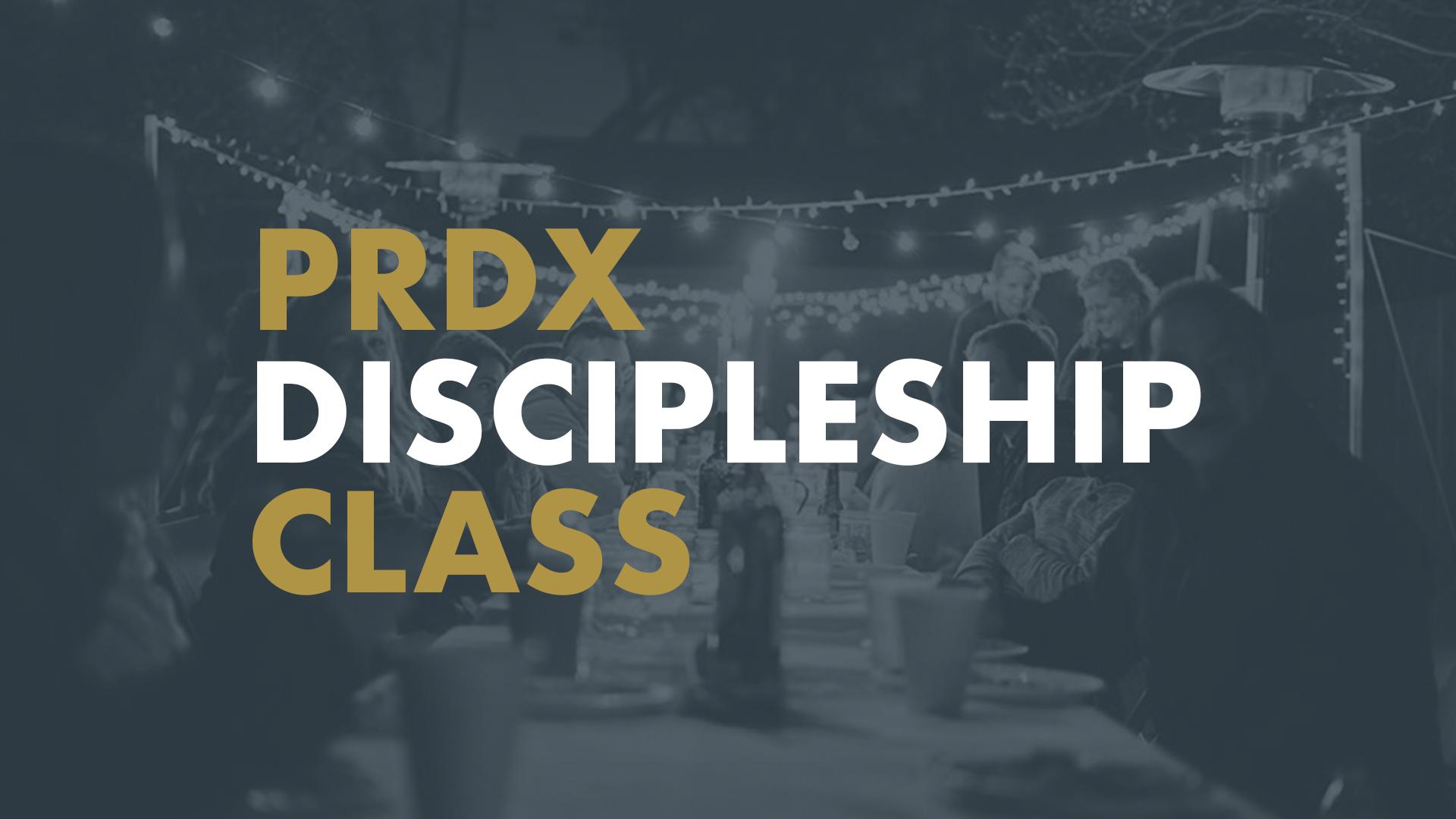 Discipleship class reg