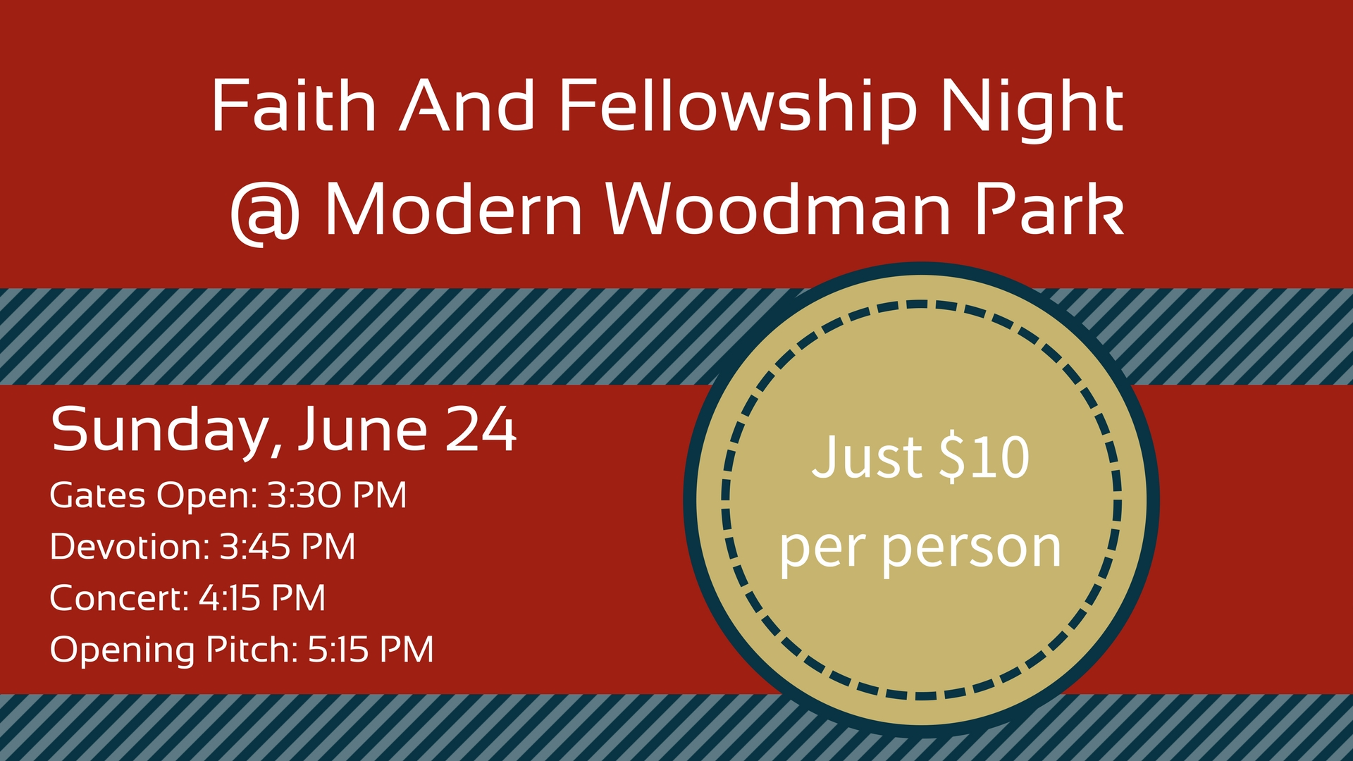 Faith and fellowship night   modern woodman park