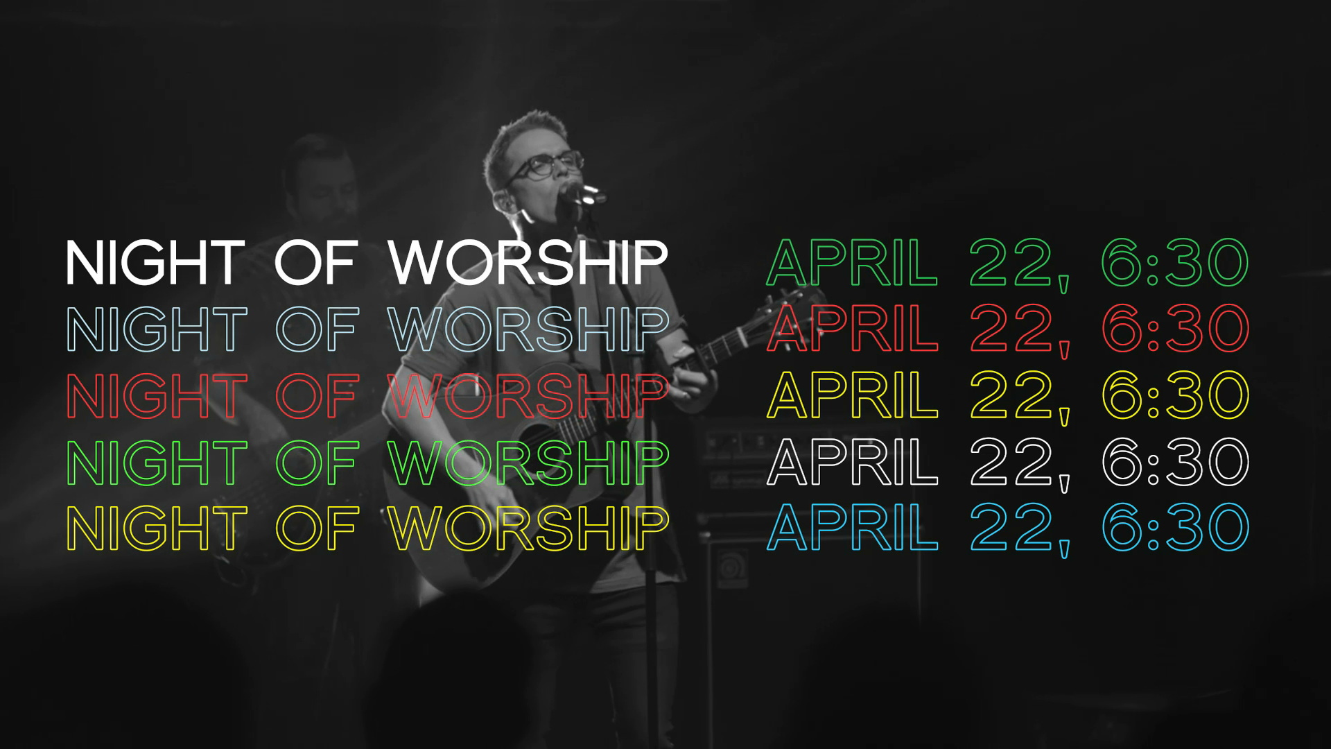 Night of worship promo