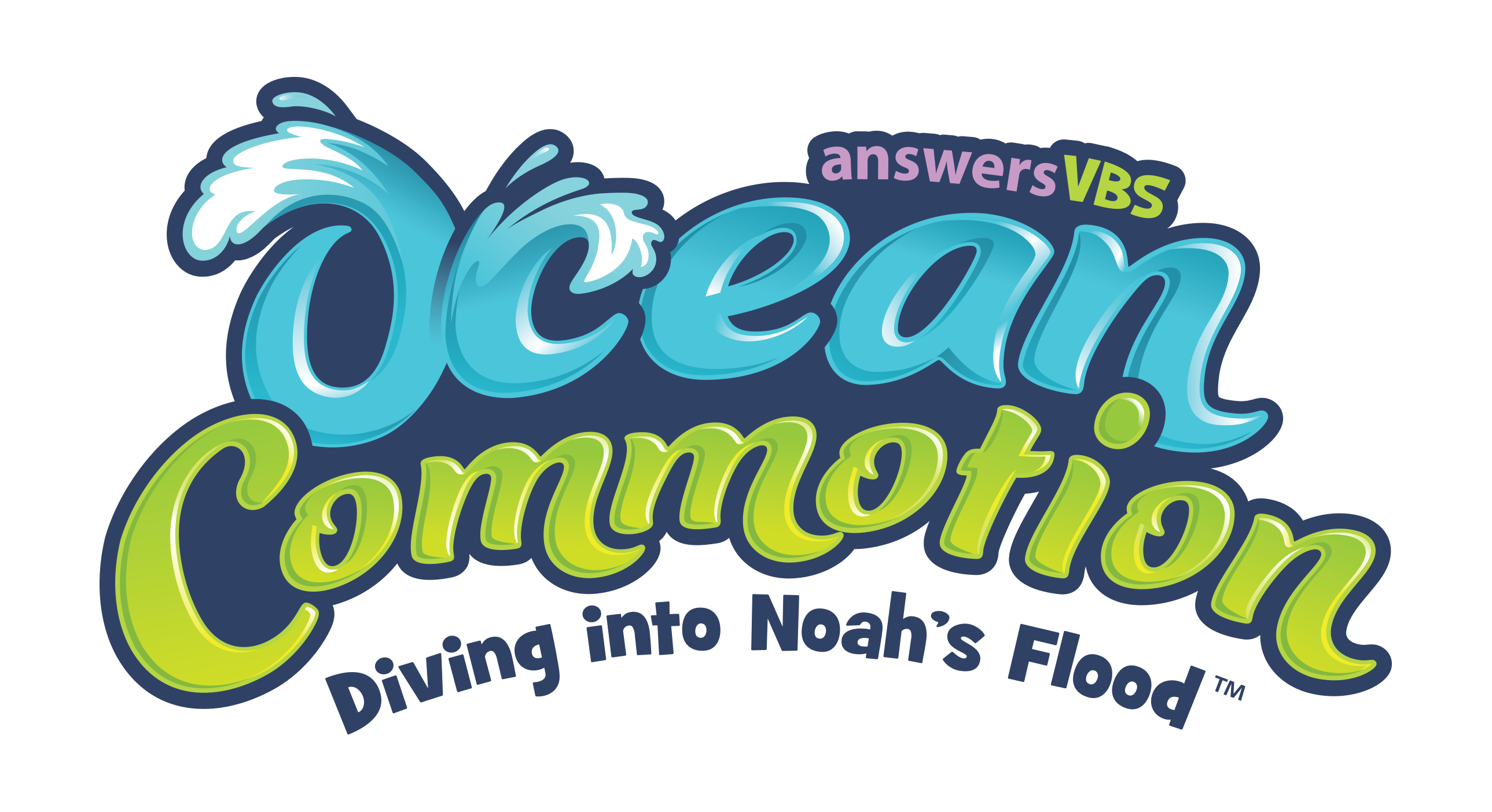 Ocean commotion text logo