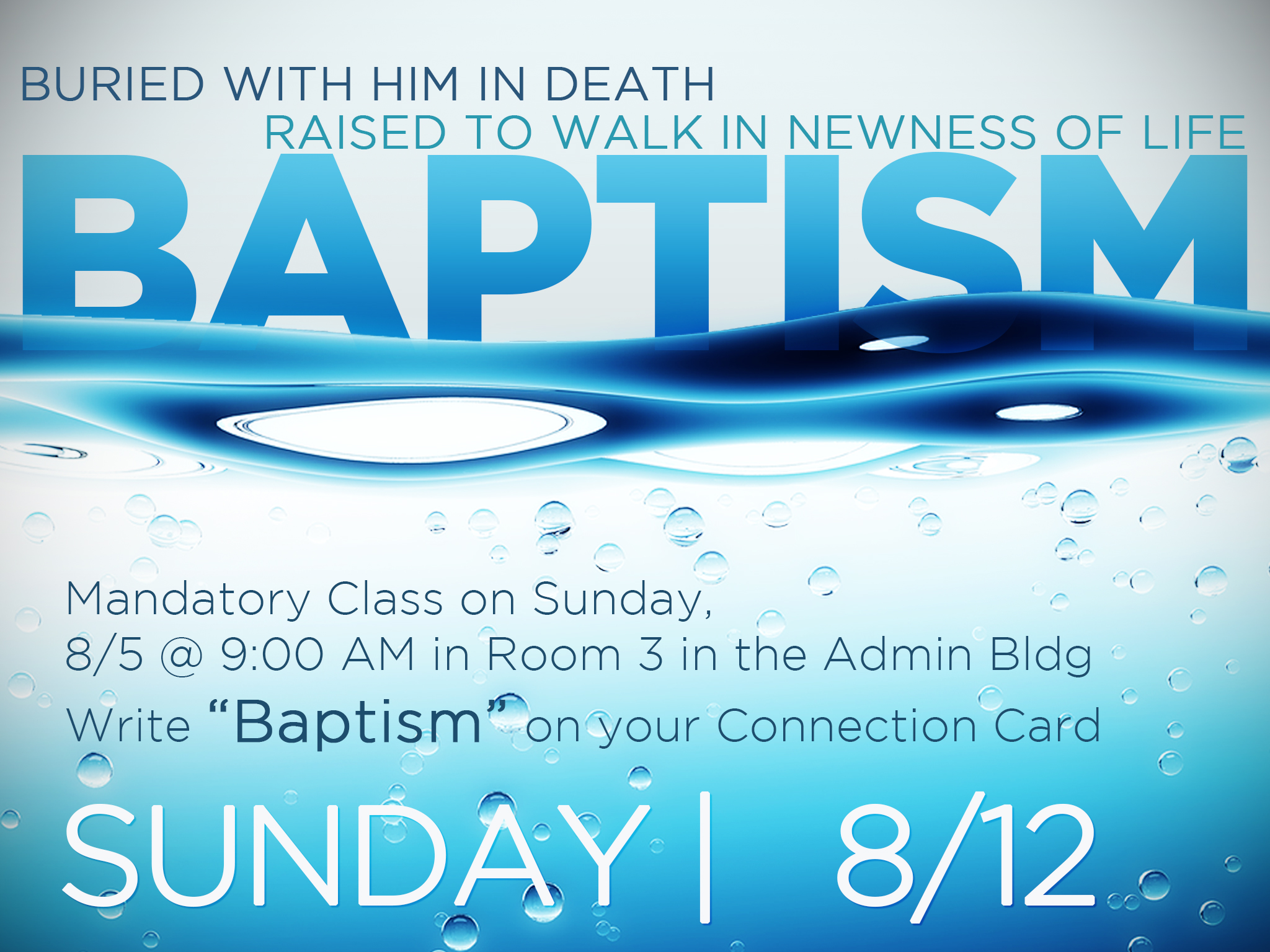 Baptisms   8 12 2018