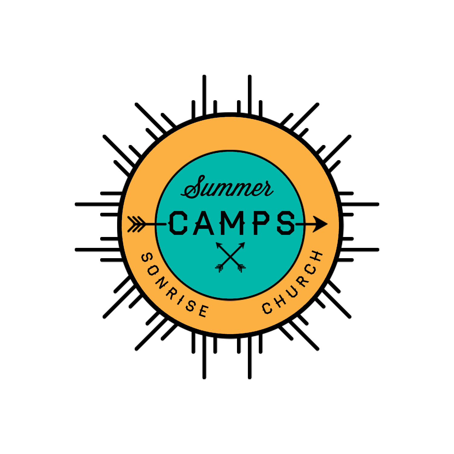 Camp logo blue orange