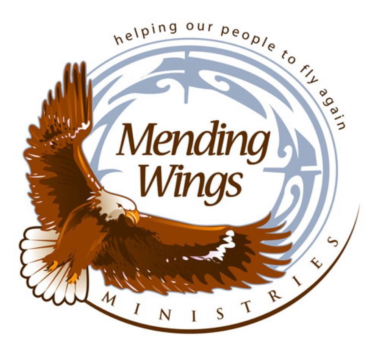 Mending wings logo