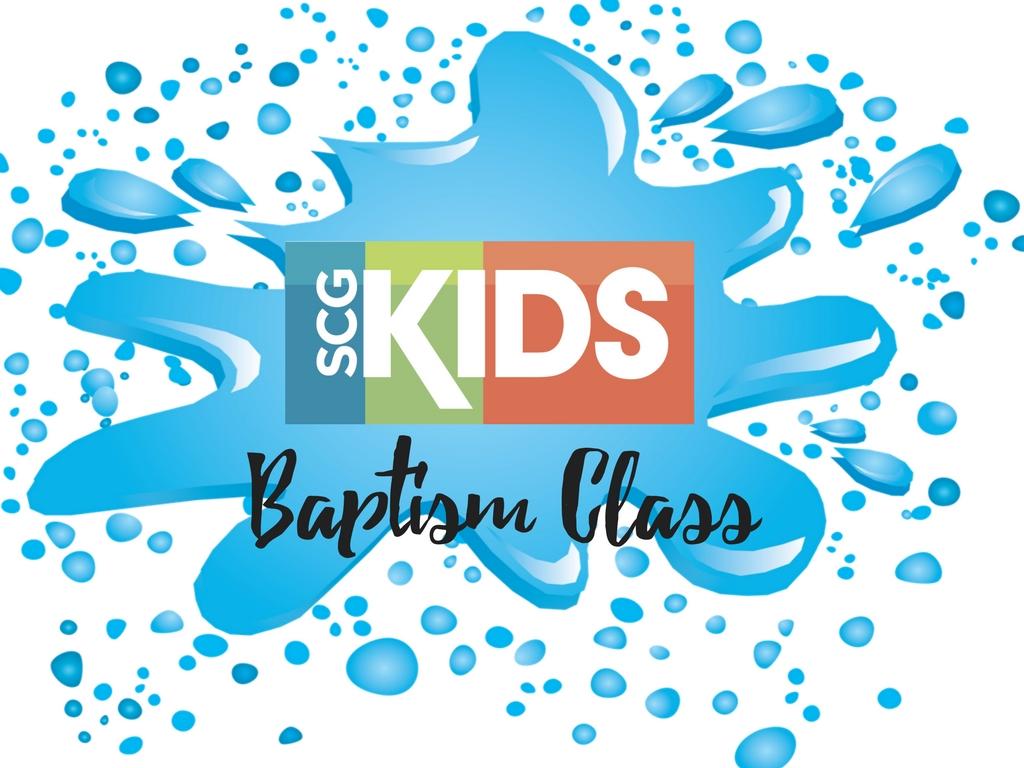 Baptism class  1