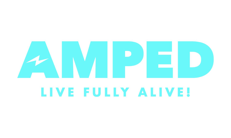 Amped full logo blue cmyk