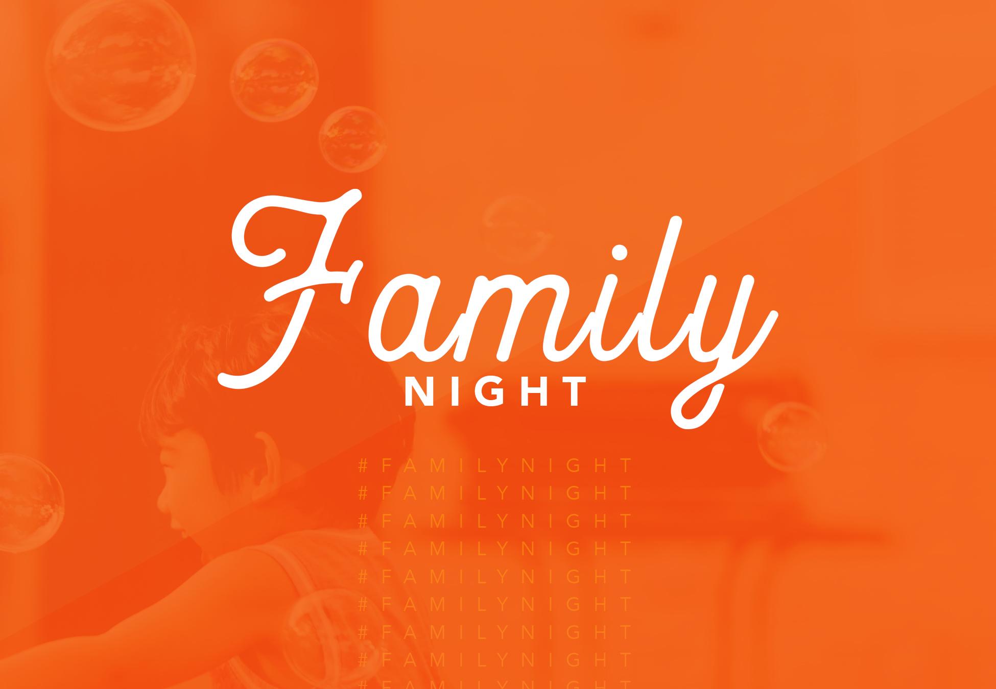 Family night postcard