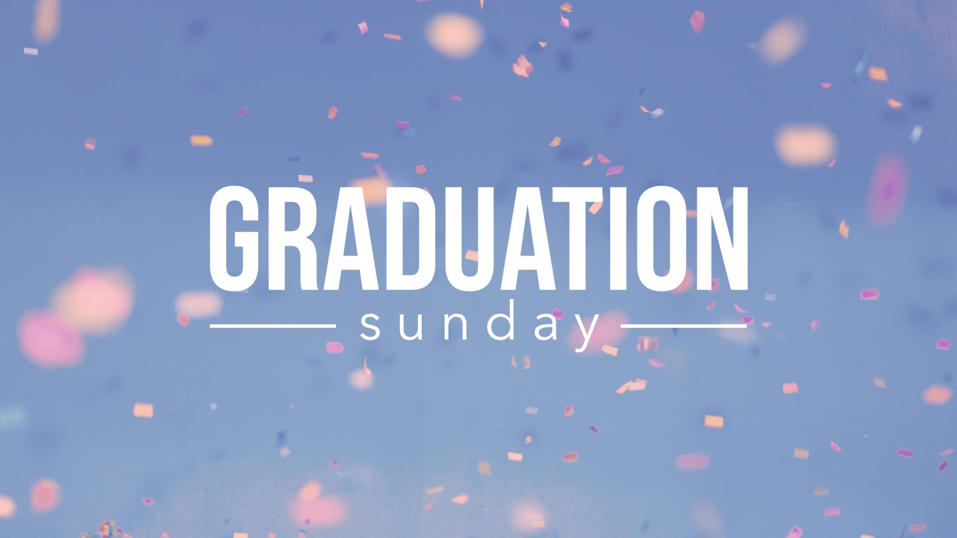 Graduation celebration title slide