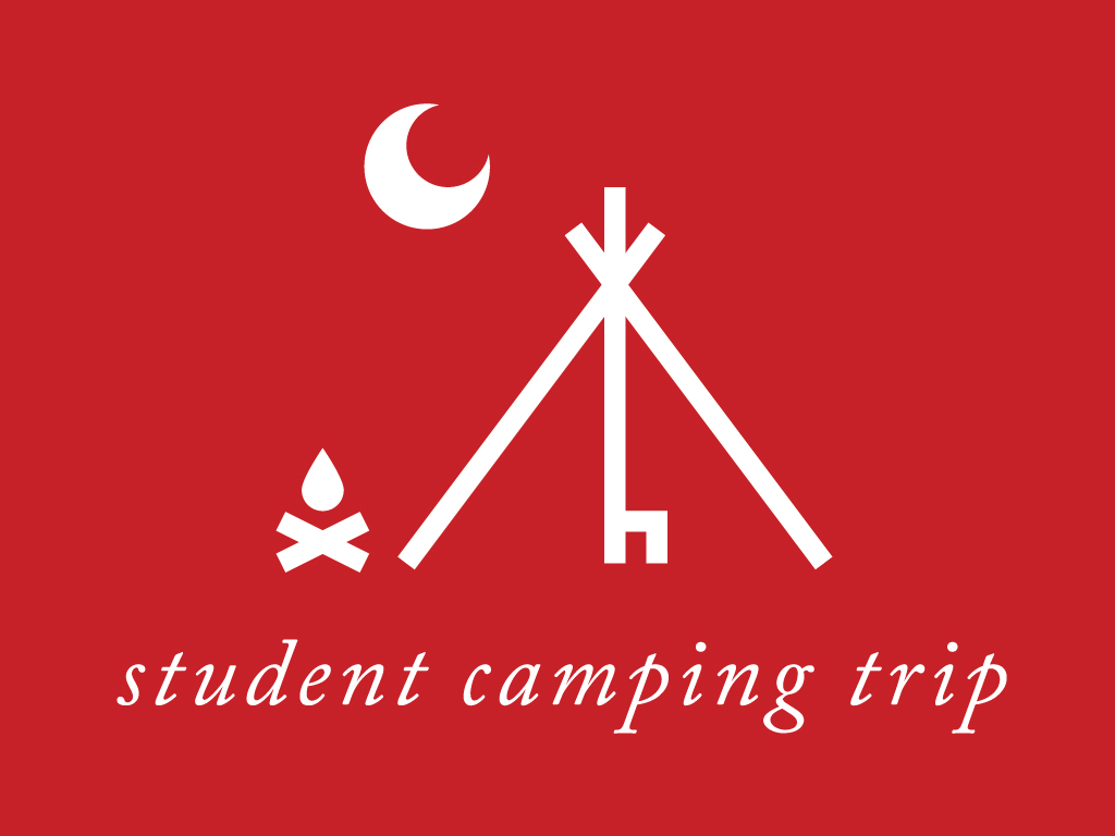 Student camping trip planning center event icon 1024x768px
