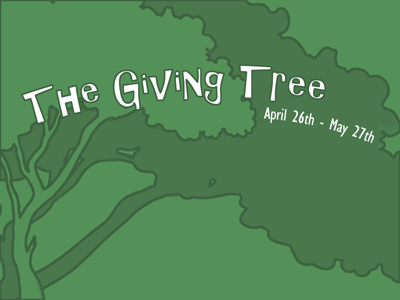 Giving tree dif font