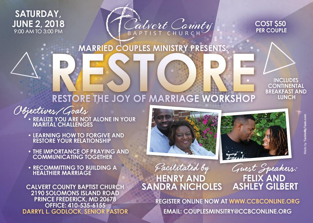 Restore marriage workshop flyer final