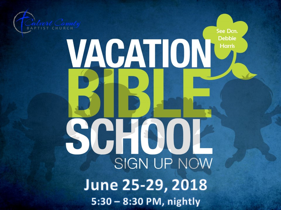 Vacation bible school june 25 29   530   830 pm nighly