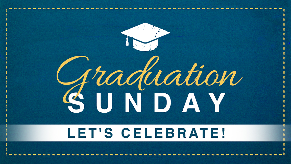 Graduation sunday 16x9 announcement slide