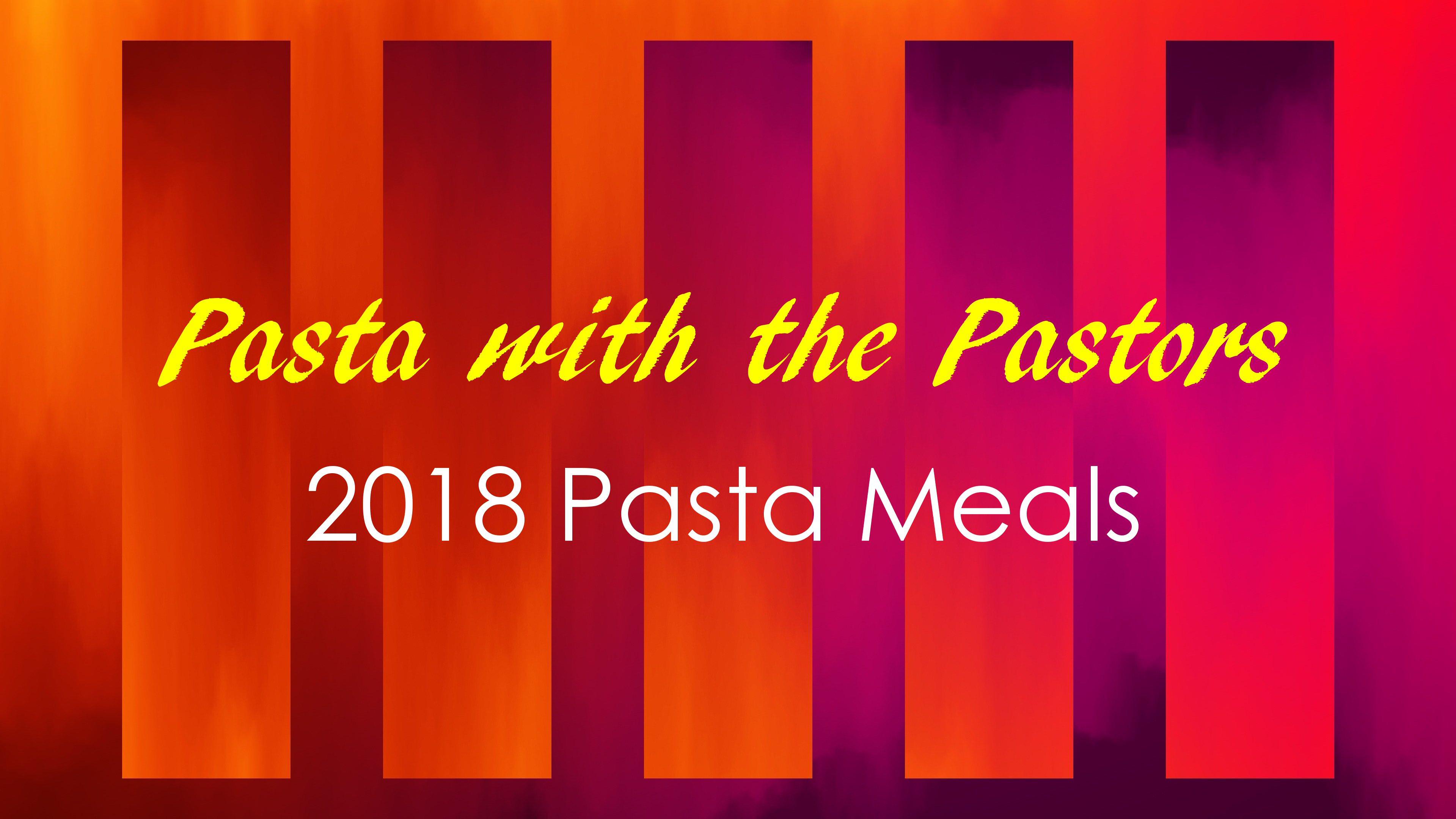 2018 pasta meals