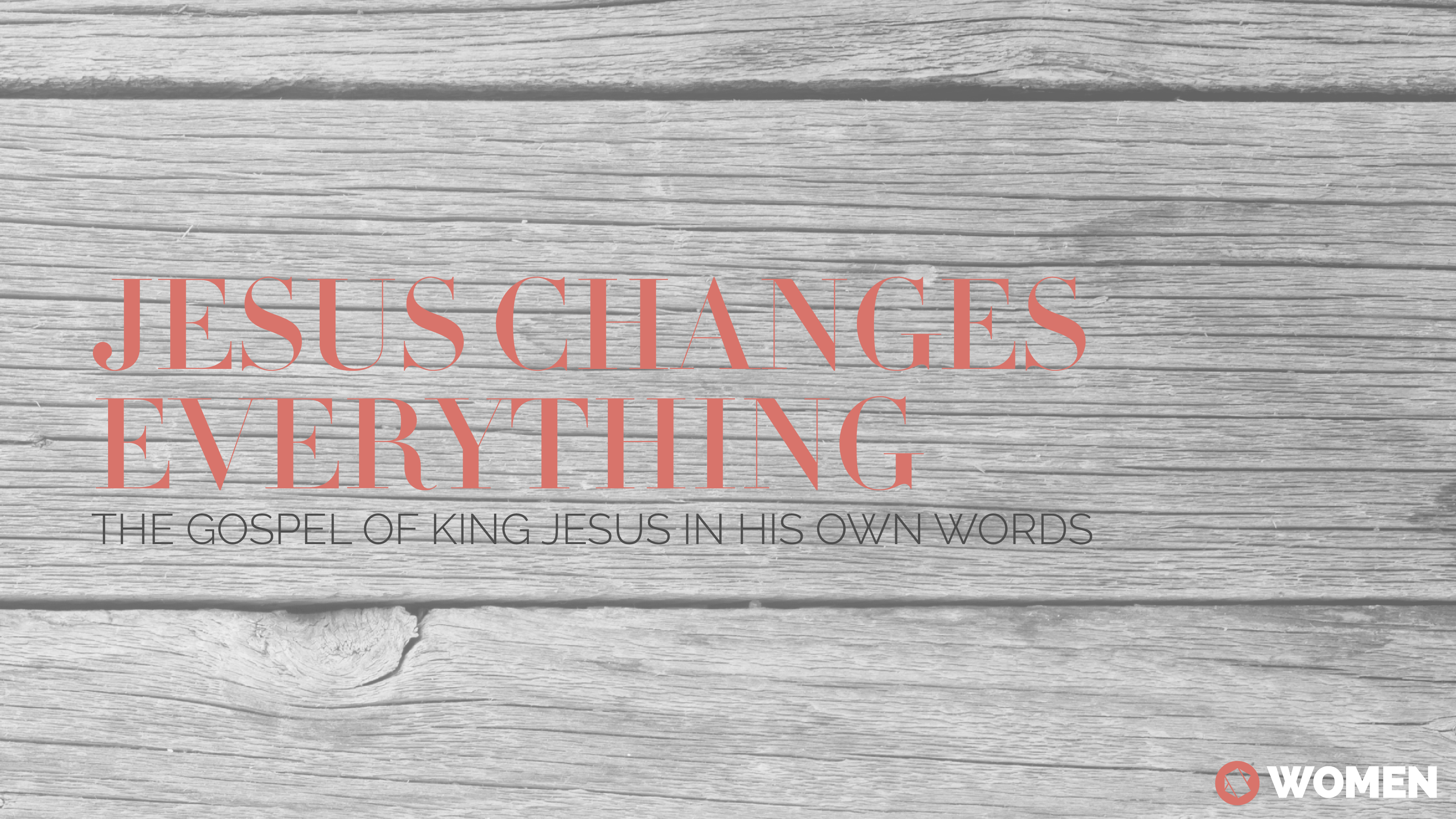 Jesus changes everything1