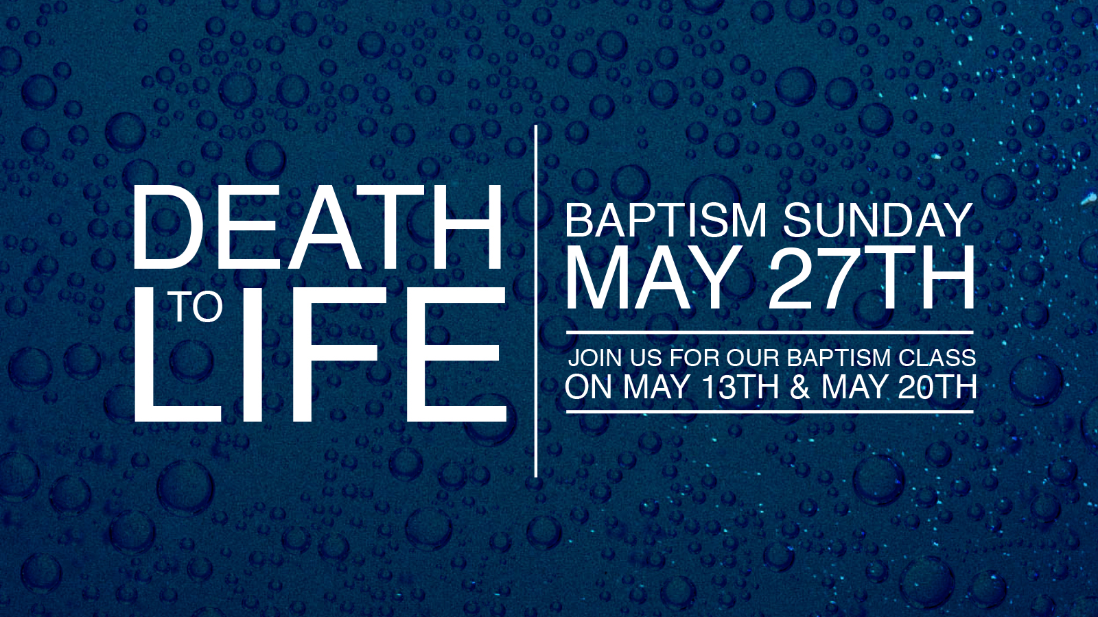 Baptism slo may 27th online
