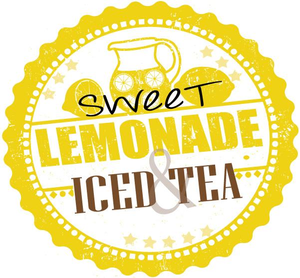 Sweet lemonade and ice tea