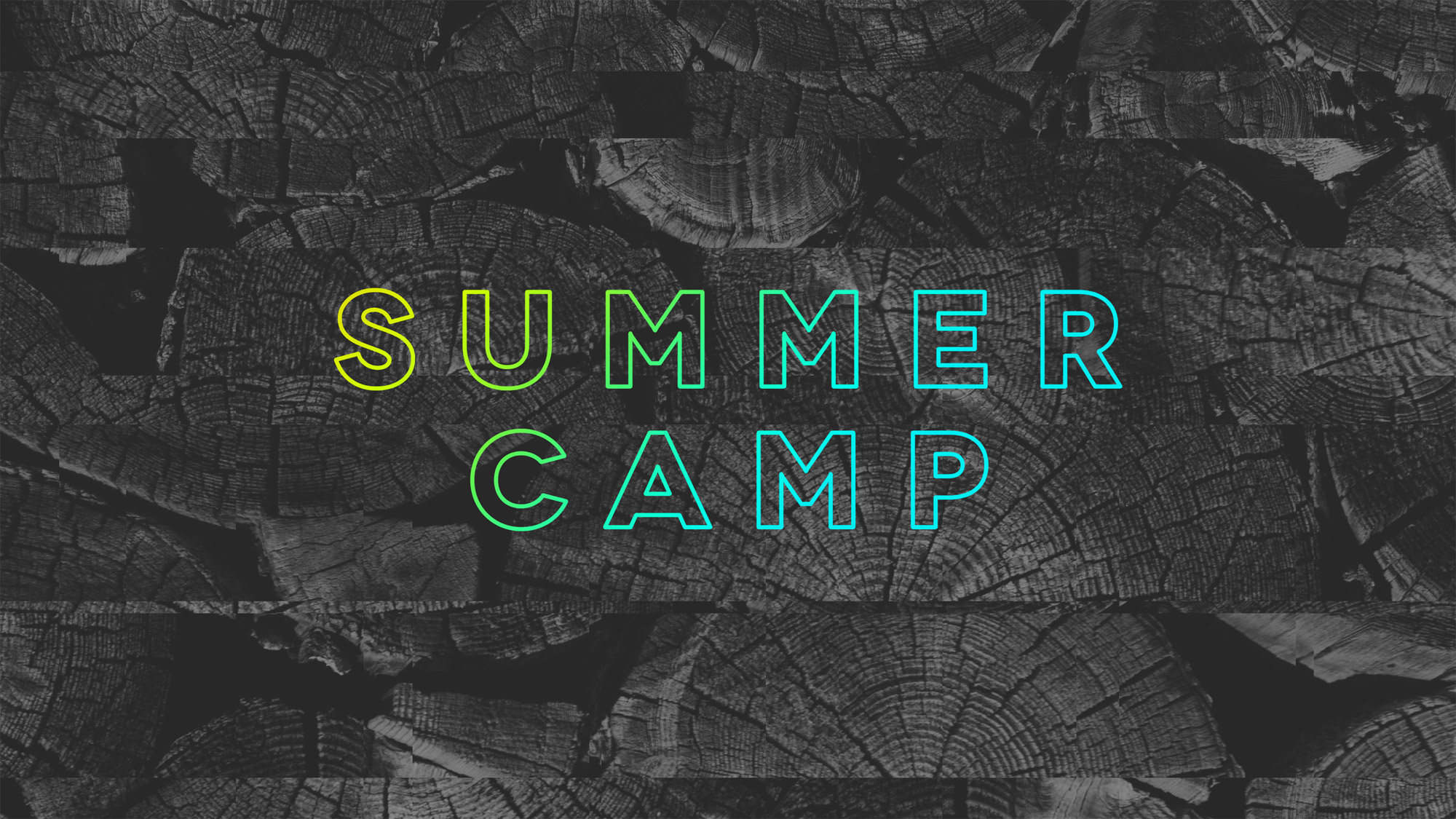 Summer camp landscape landscape