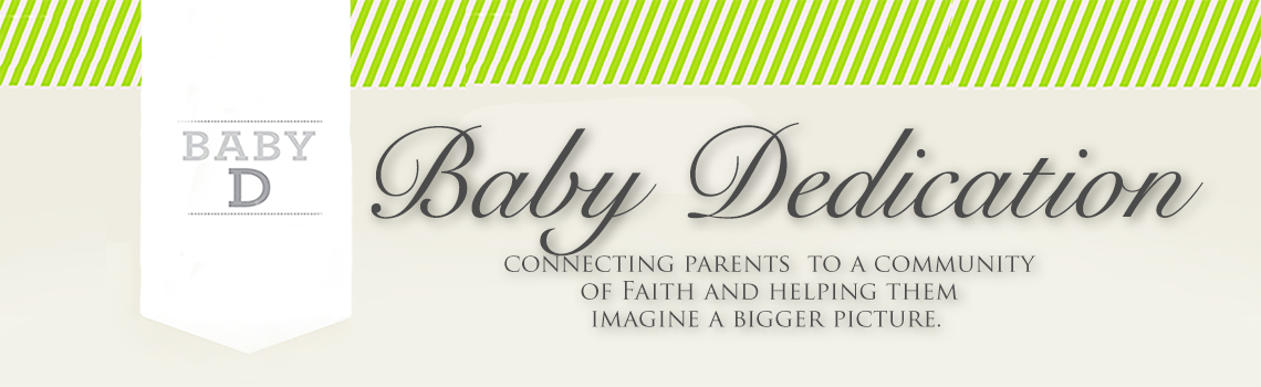 Baby dedication event banner