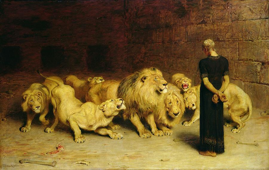 Daniel in the lions den briton riviere