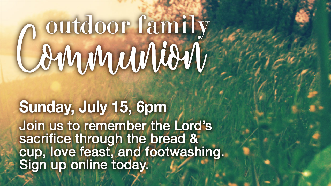 Outdoor communion