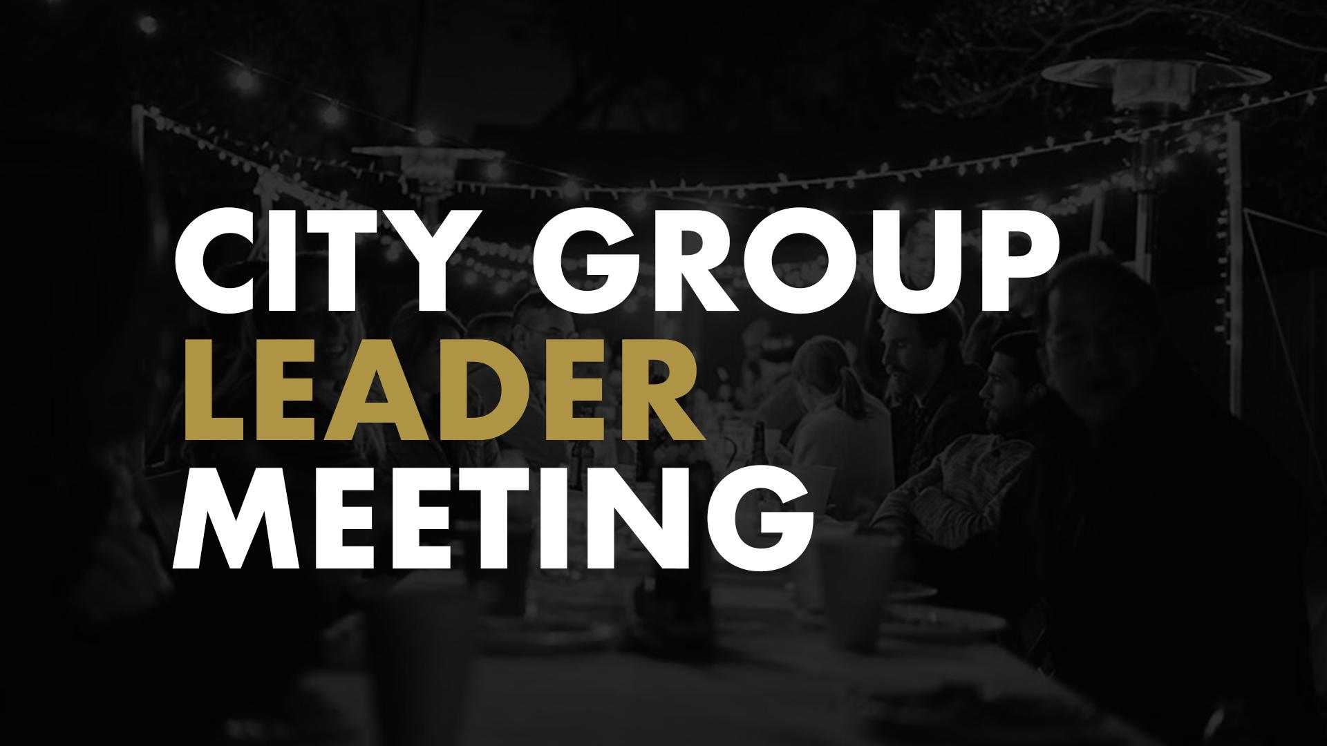 Cg leader meeting