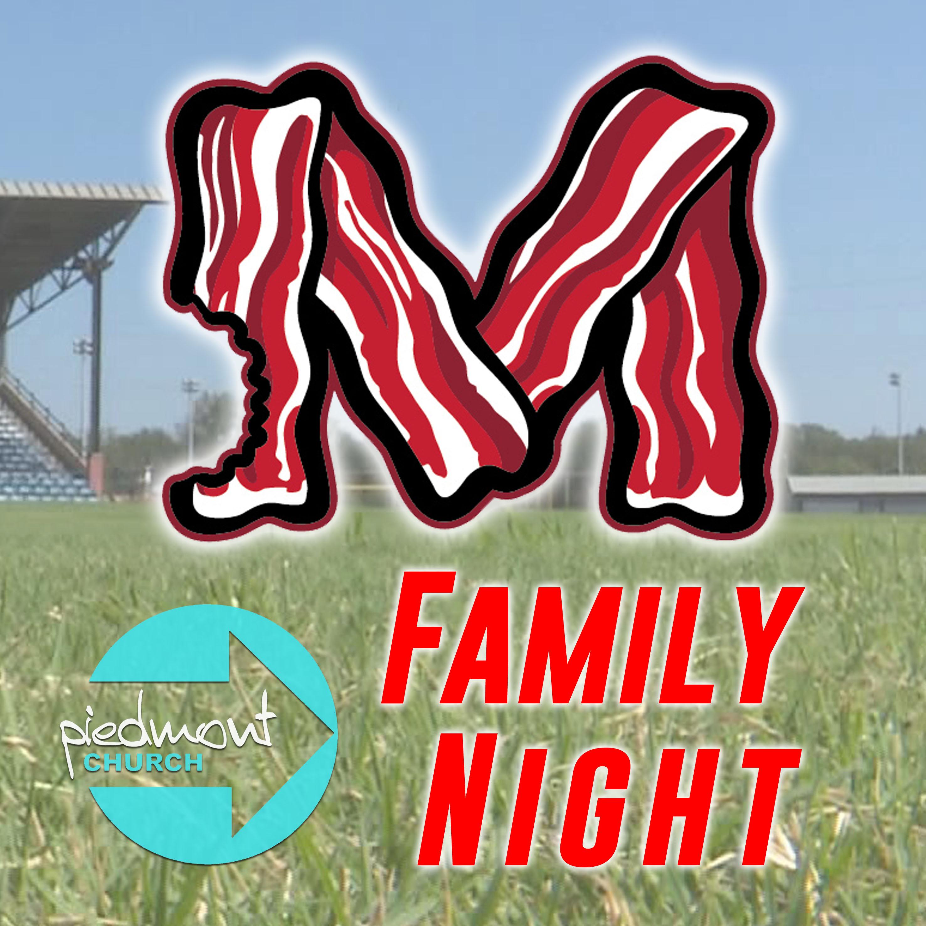 Fam night macon bacon logo