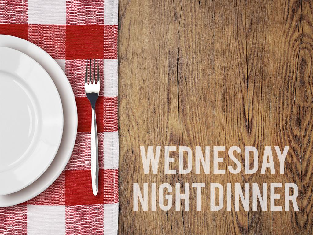 Planning center wednesday dinner