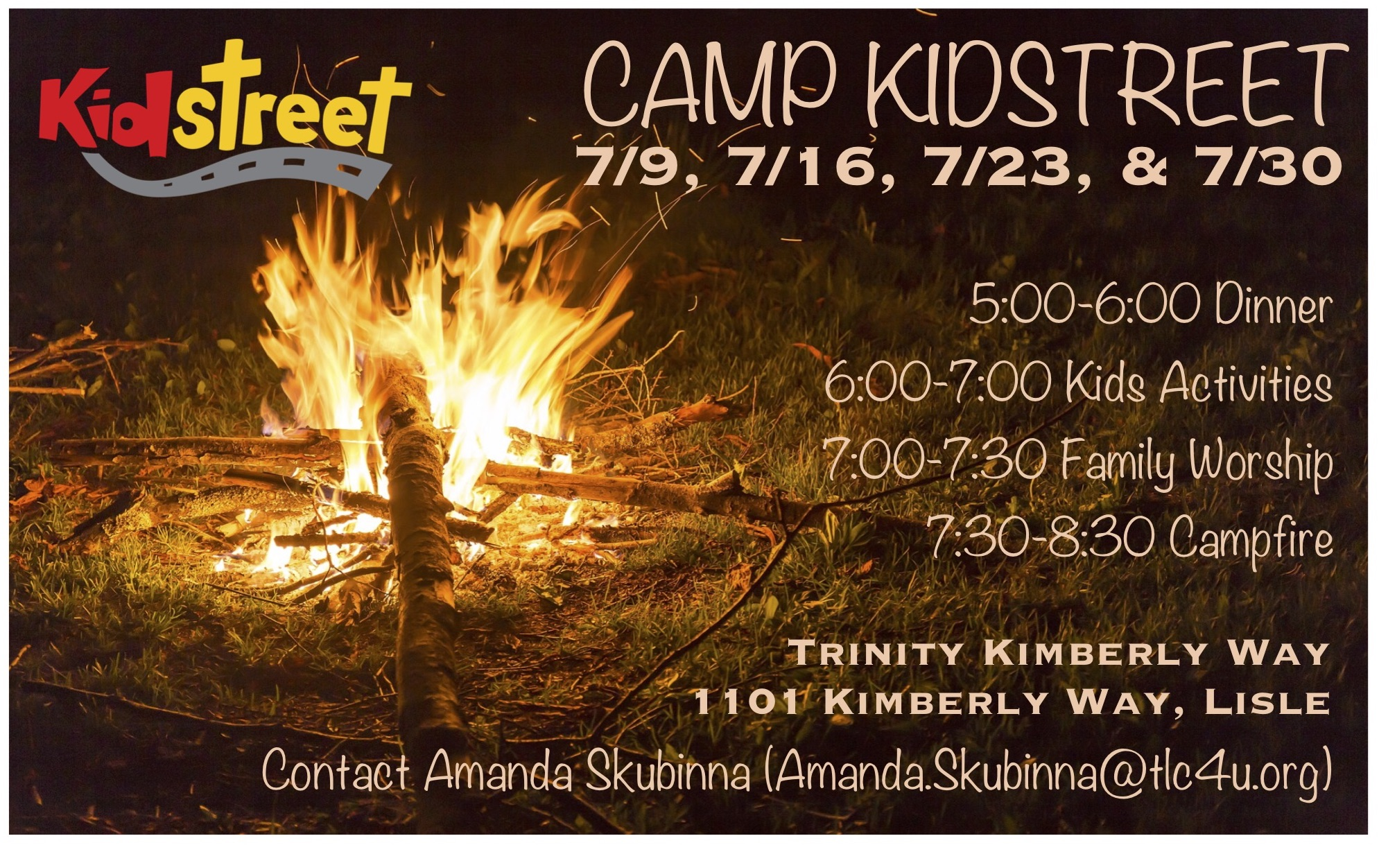 Camp kidstreet 2018 invite card