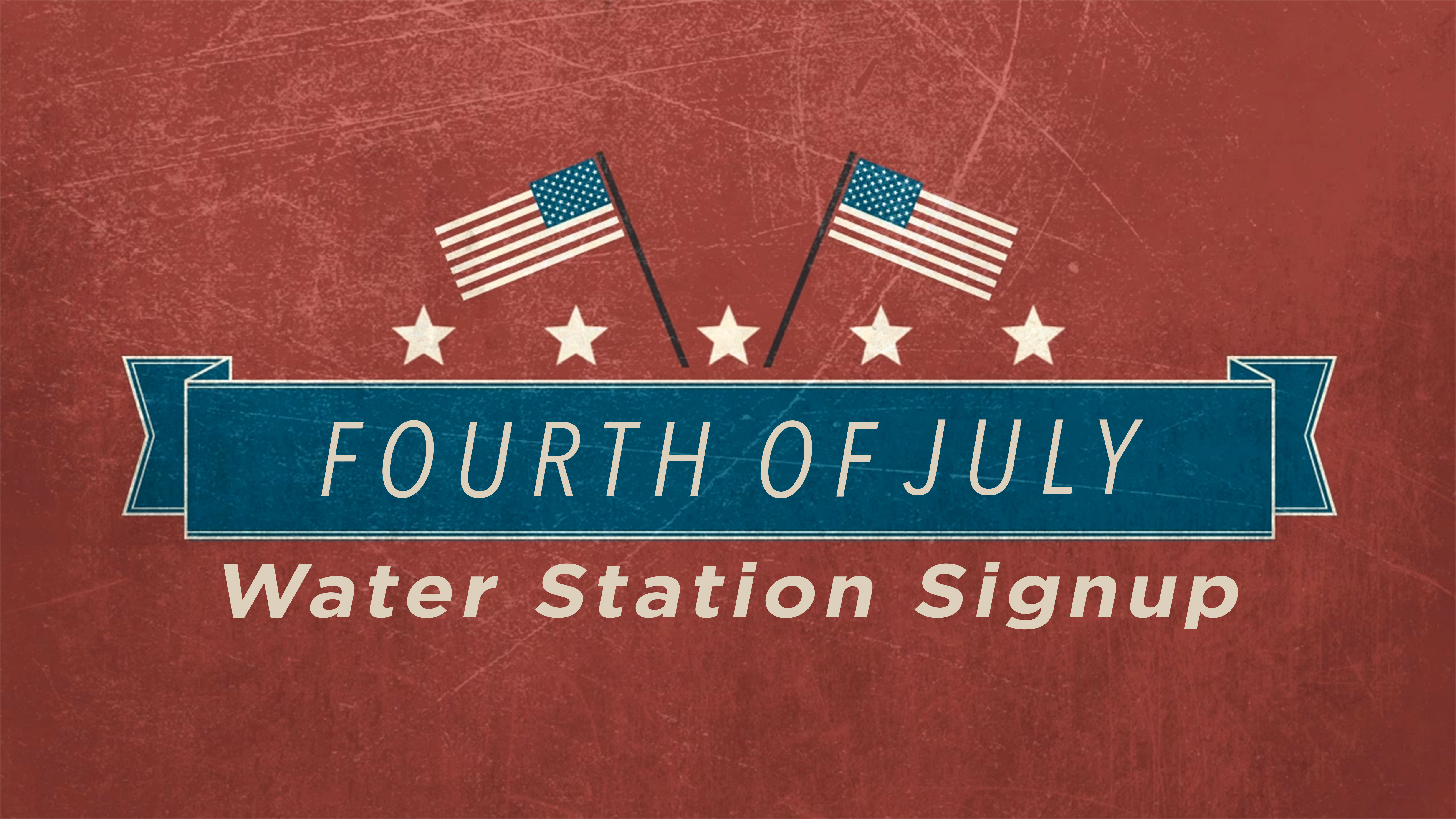 4th of july water station