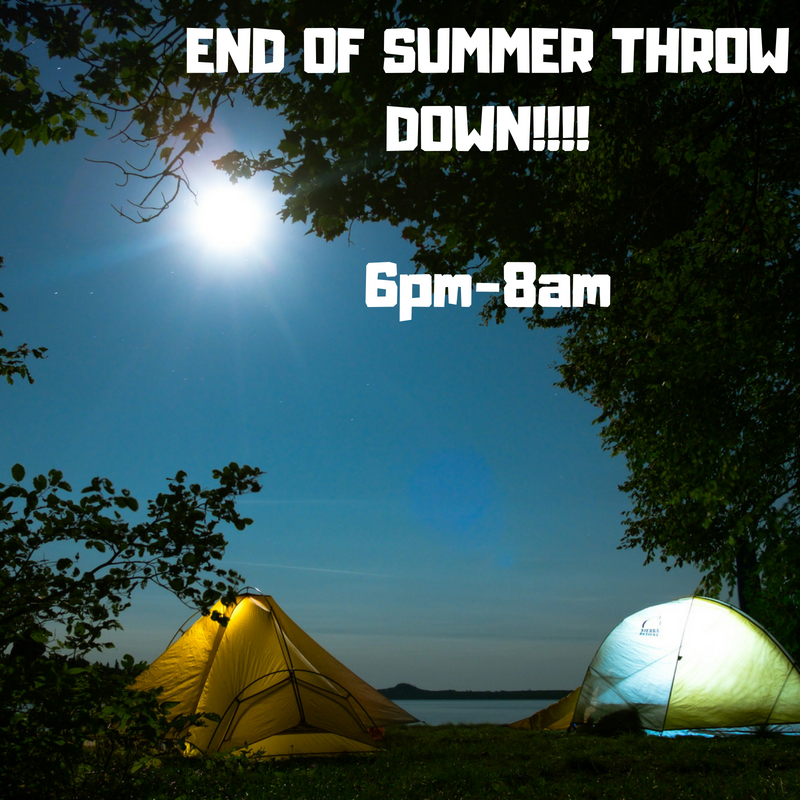 End of summer throw down