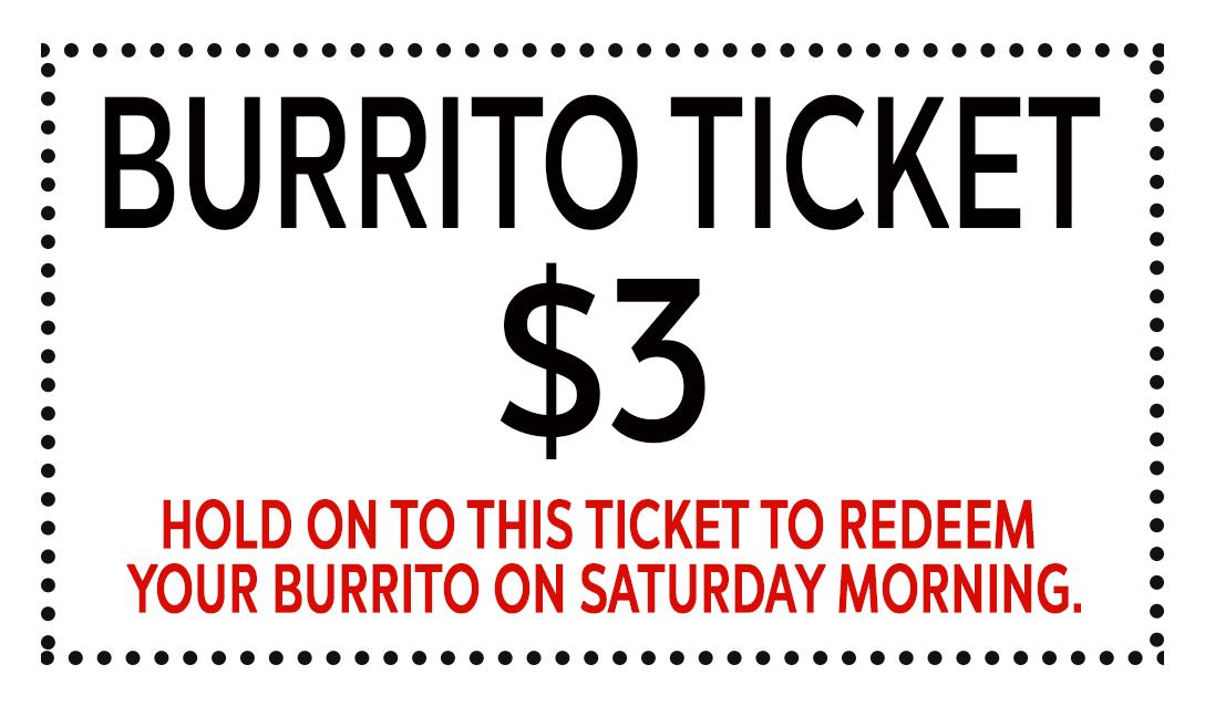 Burrito tickets