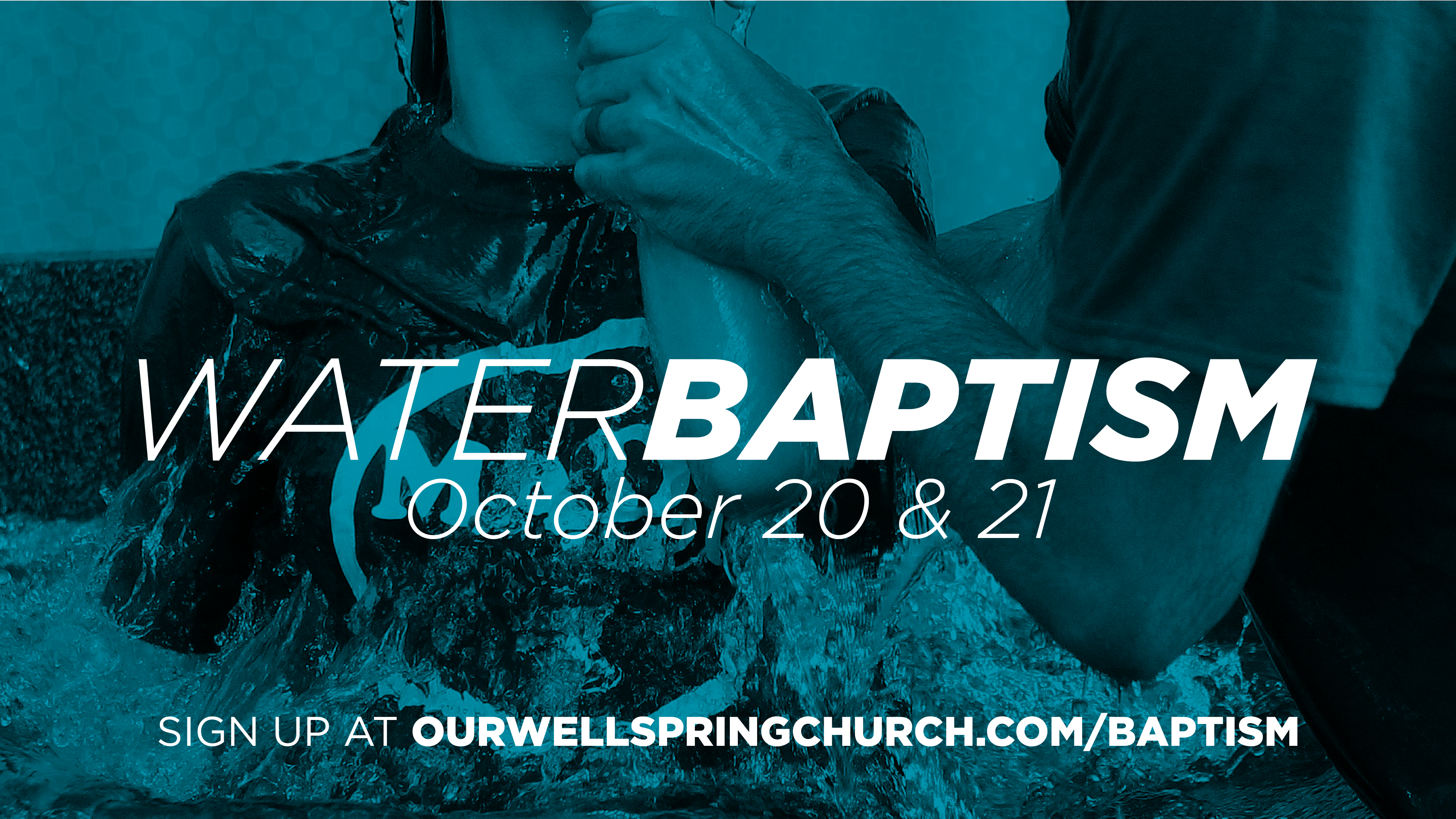 Water baptism october slide