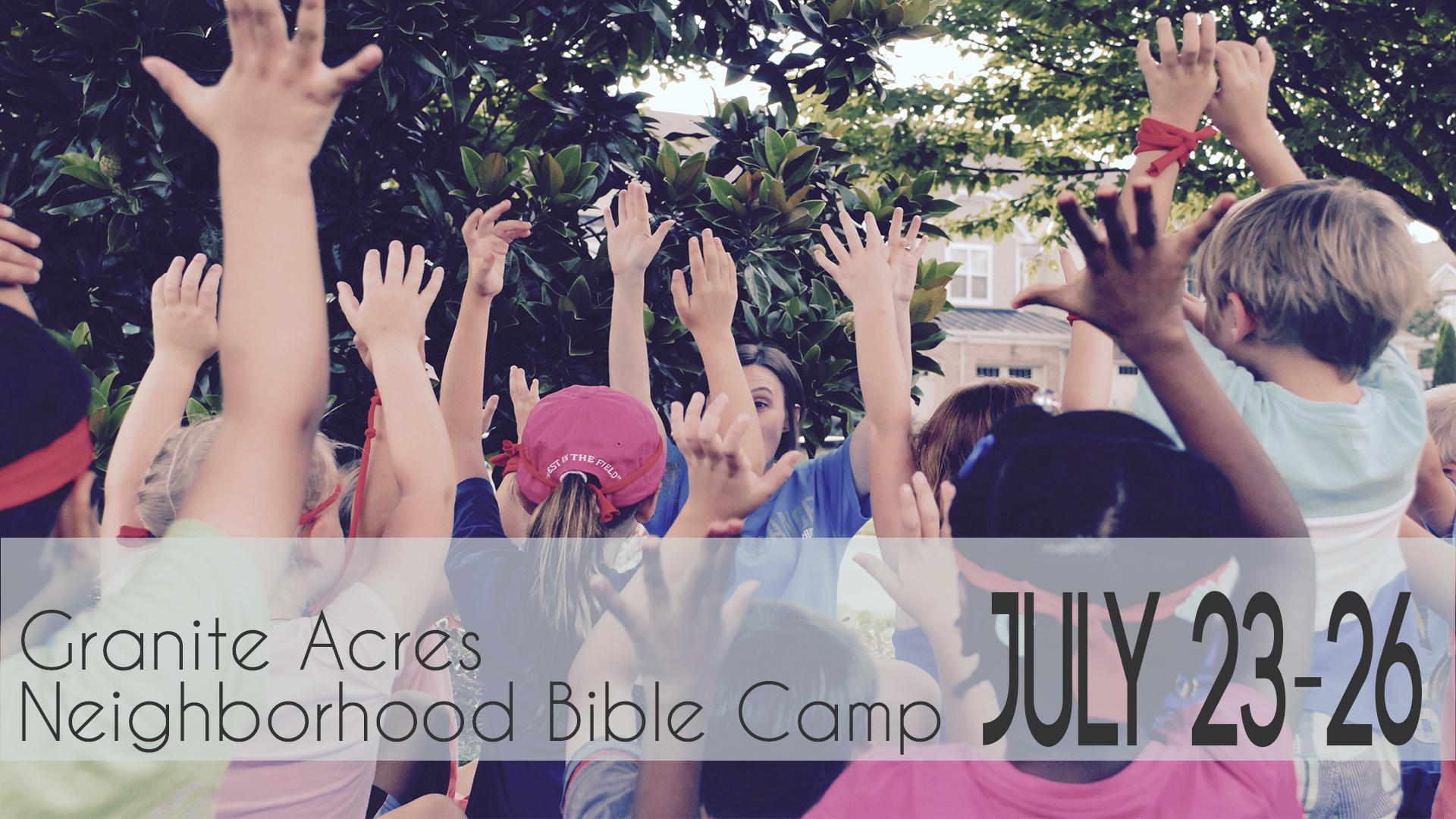 Neighborhood bible camp
