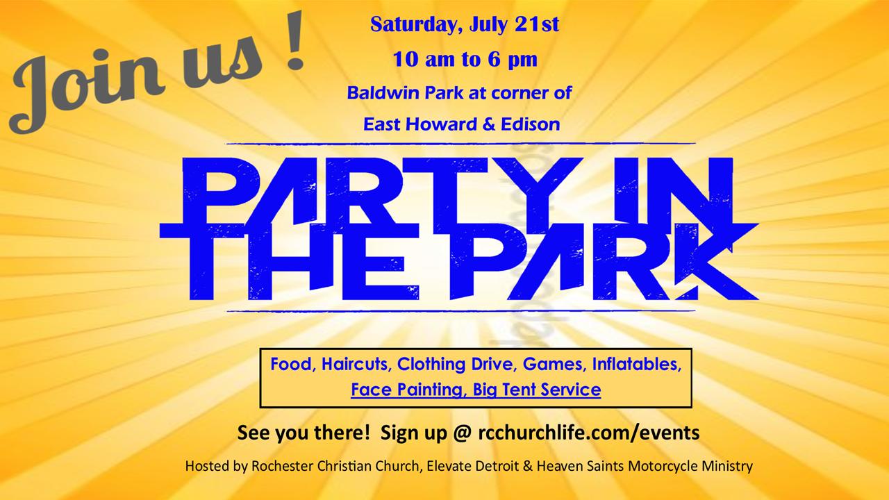 Pontiac outreach .. party in the park 2018