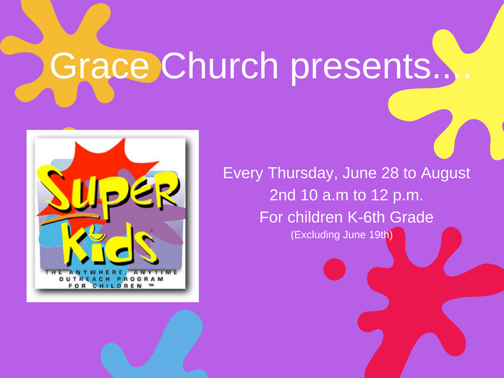 Grace church presents.... 2
