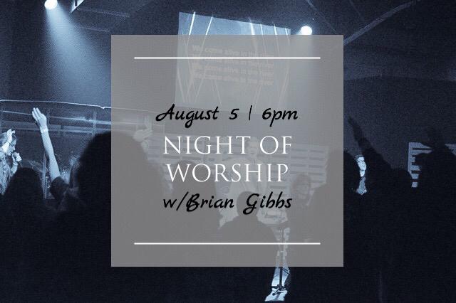 Night of worship august 2018