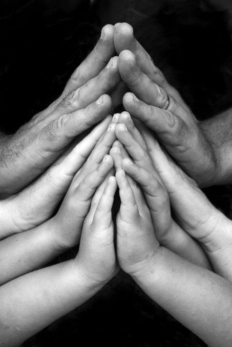 Large praying hands