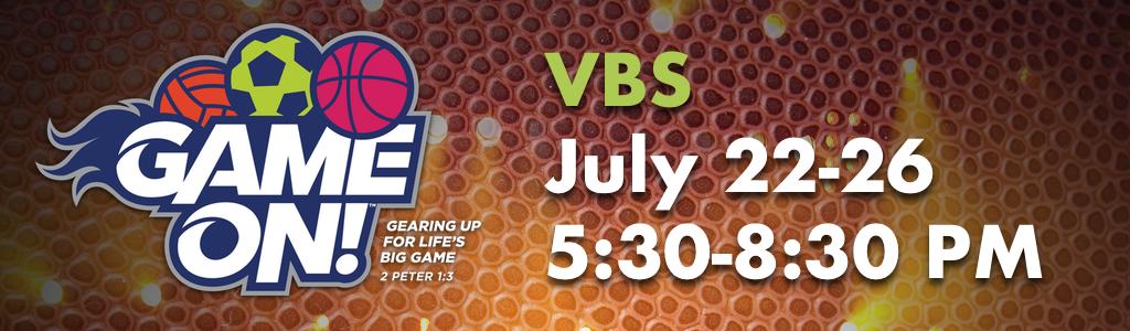 Vbs 2018 game on registration banner