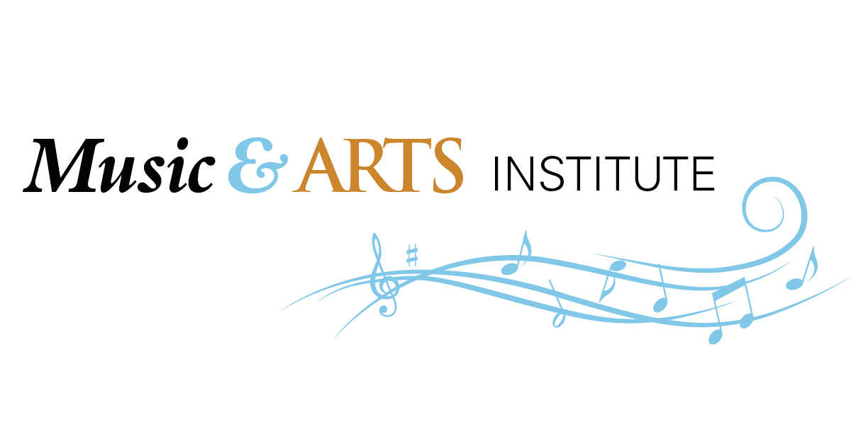 Music and arts color logo r