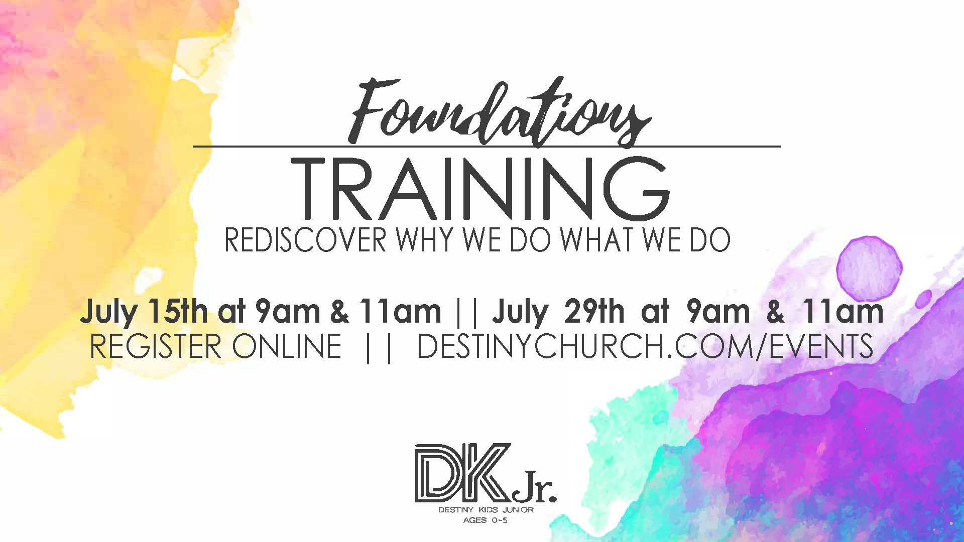Foundations training   summer 2018