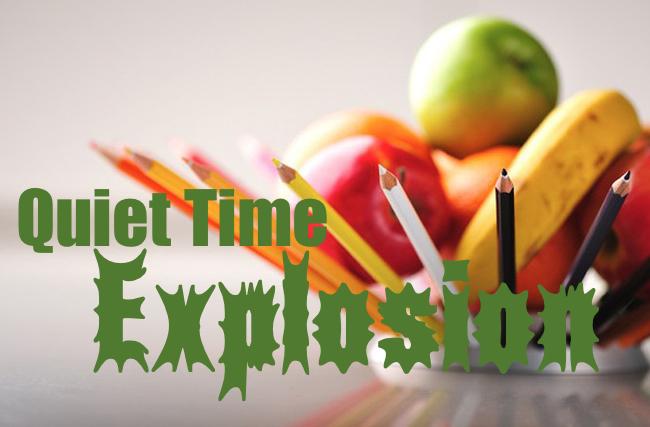 Quiet time explosion logo