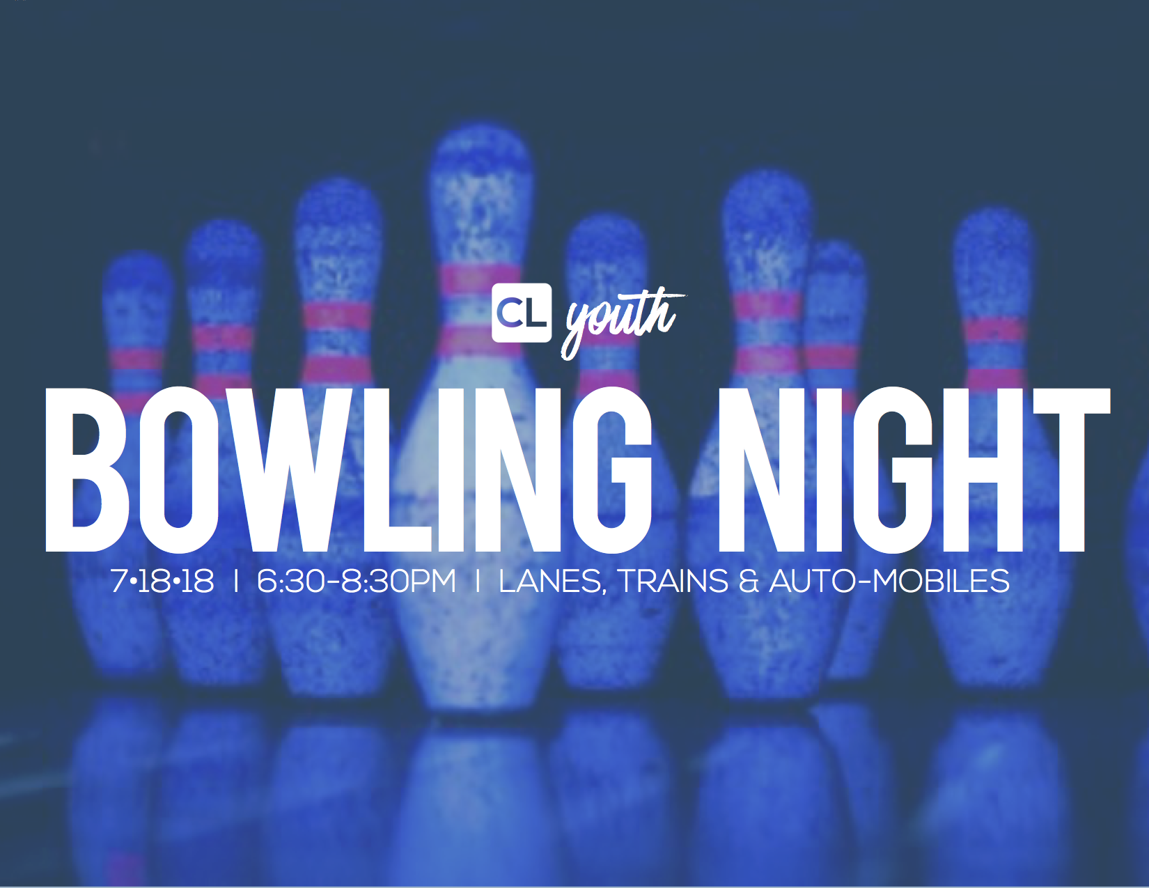 Bowling night graphic