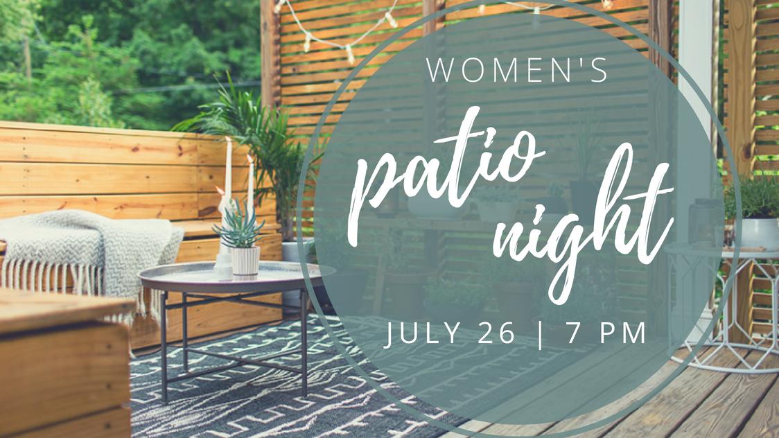 Women s patio night registration