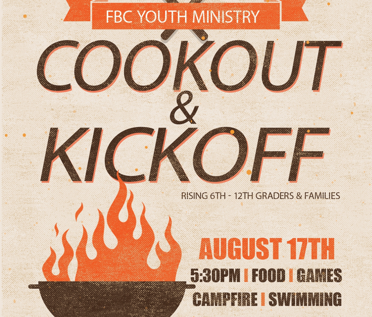 Youth cookout slide