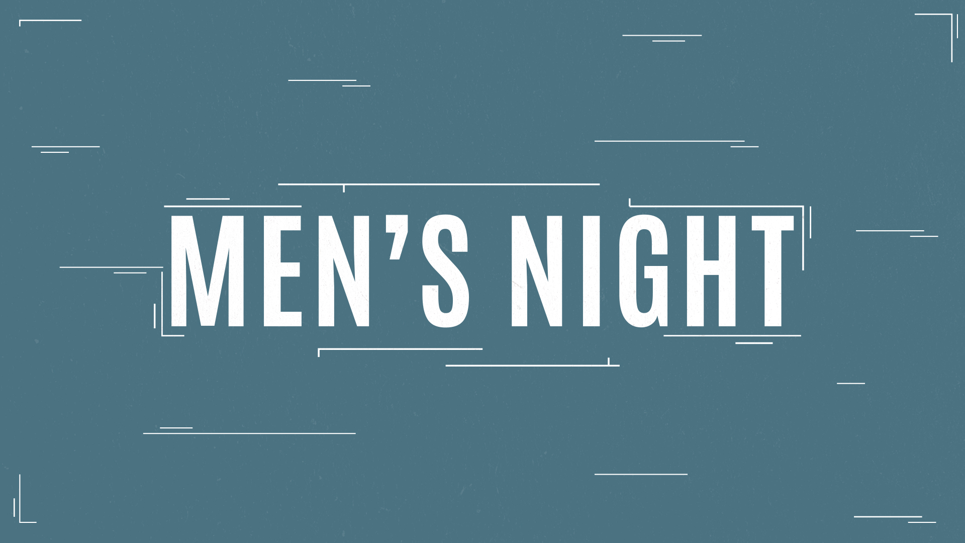 Men s night no date