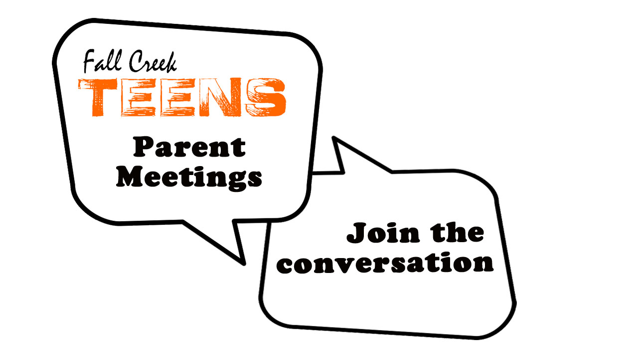 Parent meeting logo teens orange