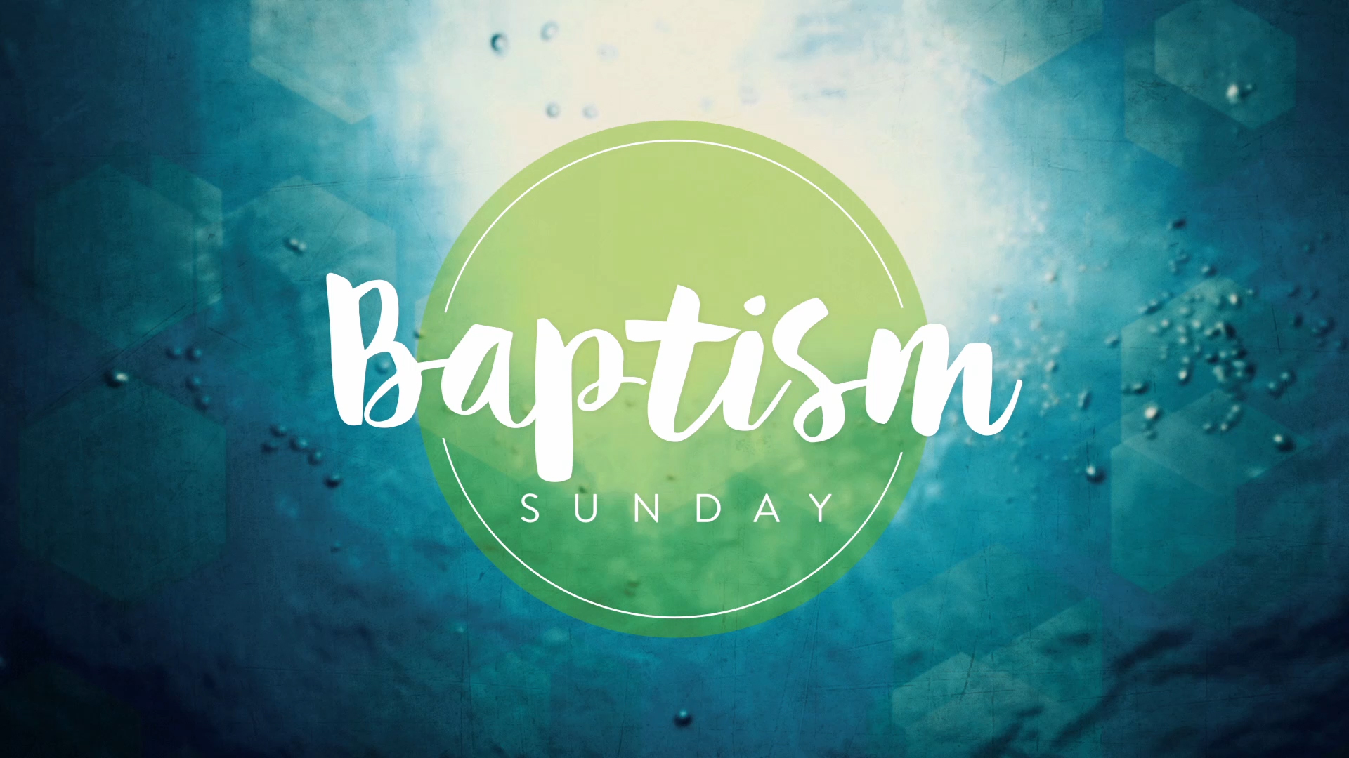 Baptism water baptism sunday wide 16x9