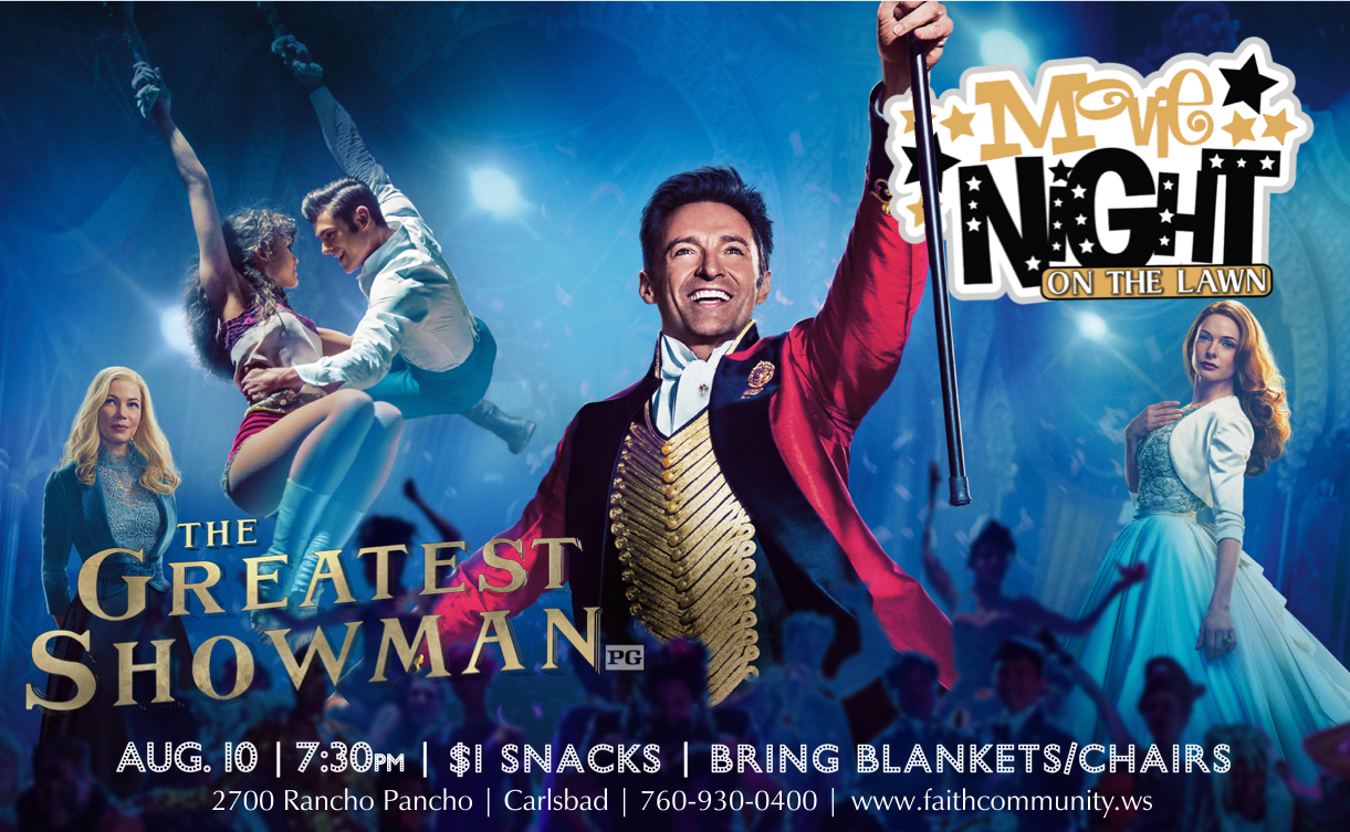 Greatest showman movie night 2018 pco