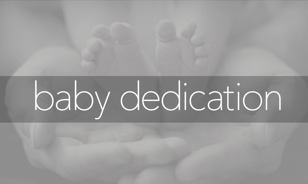 Baby dedication   title
